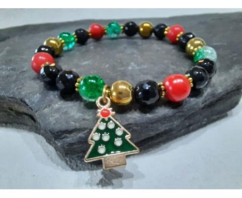 vánoční náramek se stromečkem